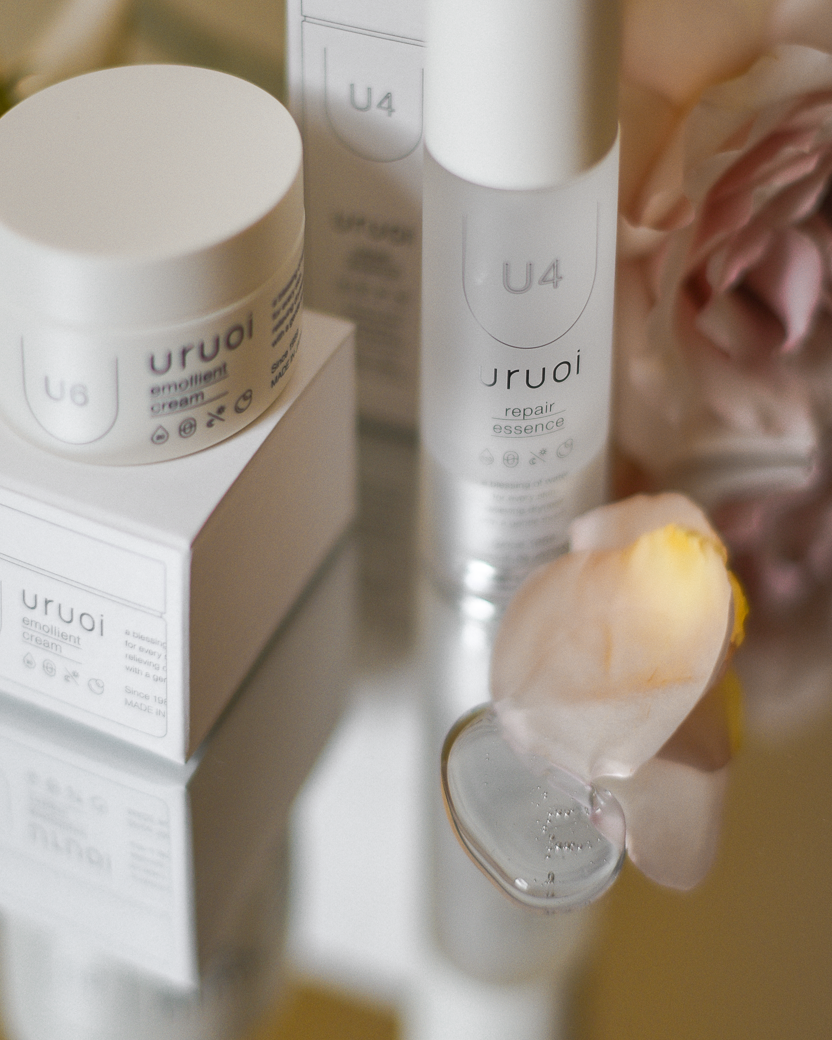 Uruoi Skincare - DENKA PURE HYALURONIC ACID TM, U-Series spring collaboration with blogger @forevervanny. Japanese clean beauty brand.