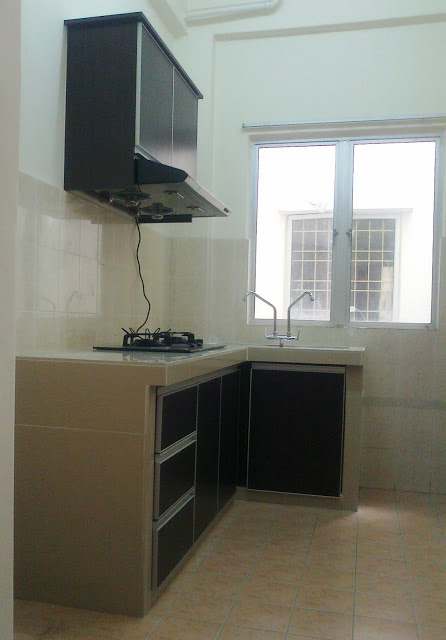 Kabinet Dapur Bersama Konkrit Table Top