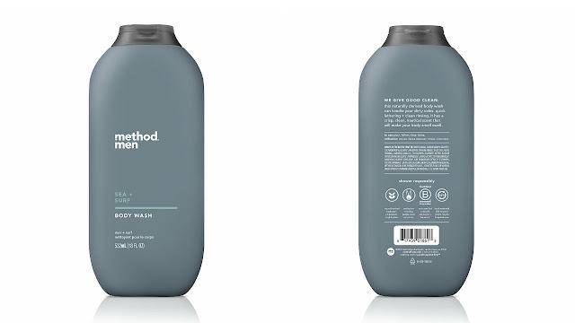 Pertama kali aku guna sabun mandi rare sikit dari Method Men dengan aroma sea + surf