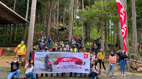 Honda Kalbar Gelar ADV x PCX On Vacation Seri 3 ke Rindu Alam Singkawang