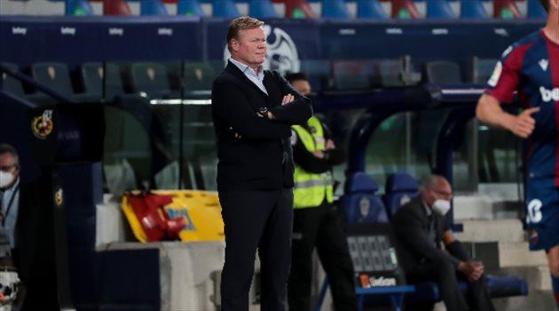 كومان يعبرعن «اندهاشة» عقب تعادل برشلونة مع ليفانتي في الدوري الإسباني