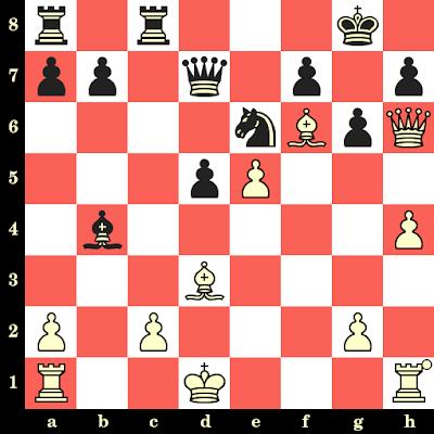 Les Blancs jouent et matent en 4 coups - Bjorn Frank vs J Willens, Amsterdam, 1923