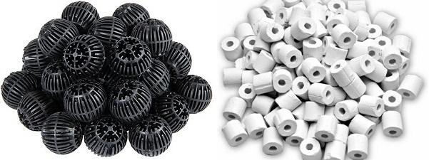 Why are plastic bio balls better than ceramic rings?