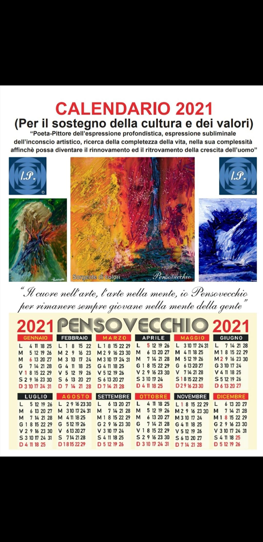 ll Calendario 2021 e l'Arte del Pittore Pensovecchio