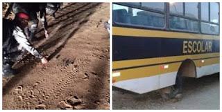 Meliantes jogam grampos na estrada e deixa alunos sem aulas em Picuí