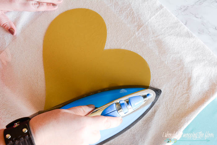 DIY Valentine's Envelope Pillows: make this simple-sew pillow from a drop cloth! Complete step-by-step photo tutorial included.