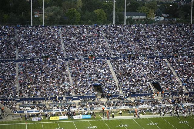 Football Team People Game Crowd Sport American