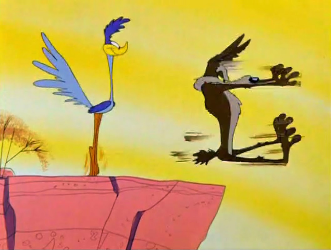 Falling Down The Rabbit Hole Wallpaper Wile E Coyote And Road Runner Stop Look And Hasten