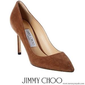 Kate Middleton wore JIMMY CHOO Romy 85 suede pumps