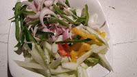 Slice onions capsicum , cucumber for Chinese bhel Recipe