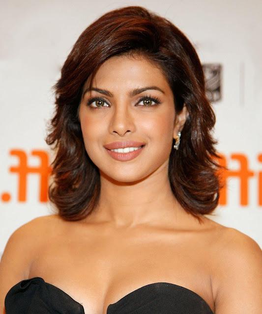 Priyanka Chopra Brunette Hairstyle