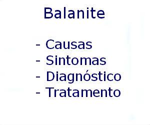 Balanite causas sintomas diagnóstico tratamento prevenção
