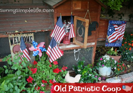 patriotic garden ideas, chicken coop