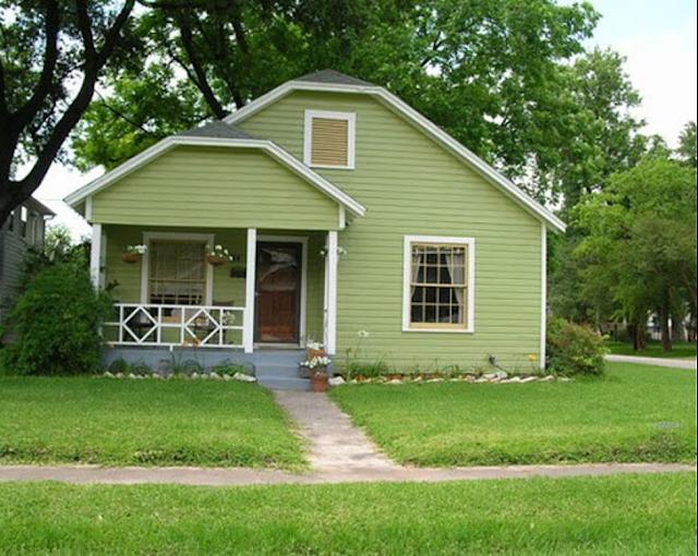 sơn nhà màu xanh lá