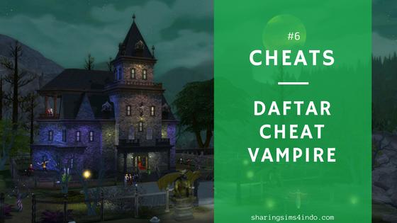 sims 4 cheat codes vampire