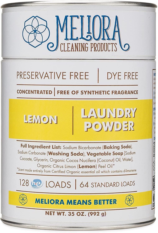 Meliora Cleaning Products Laundry Powder, Lemon | Photo via Amazon