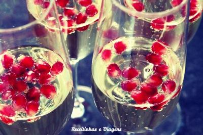 Drinks para o Réveillon: Espumante com romã, para atrair prosperidade no Ano Novo