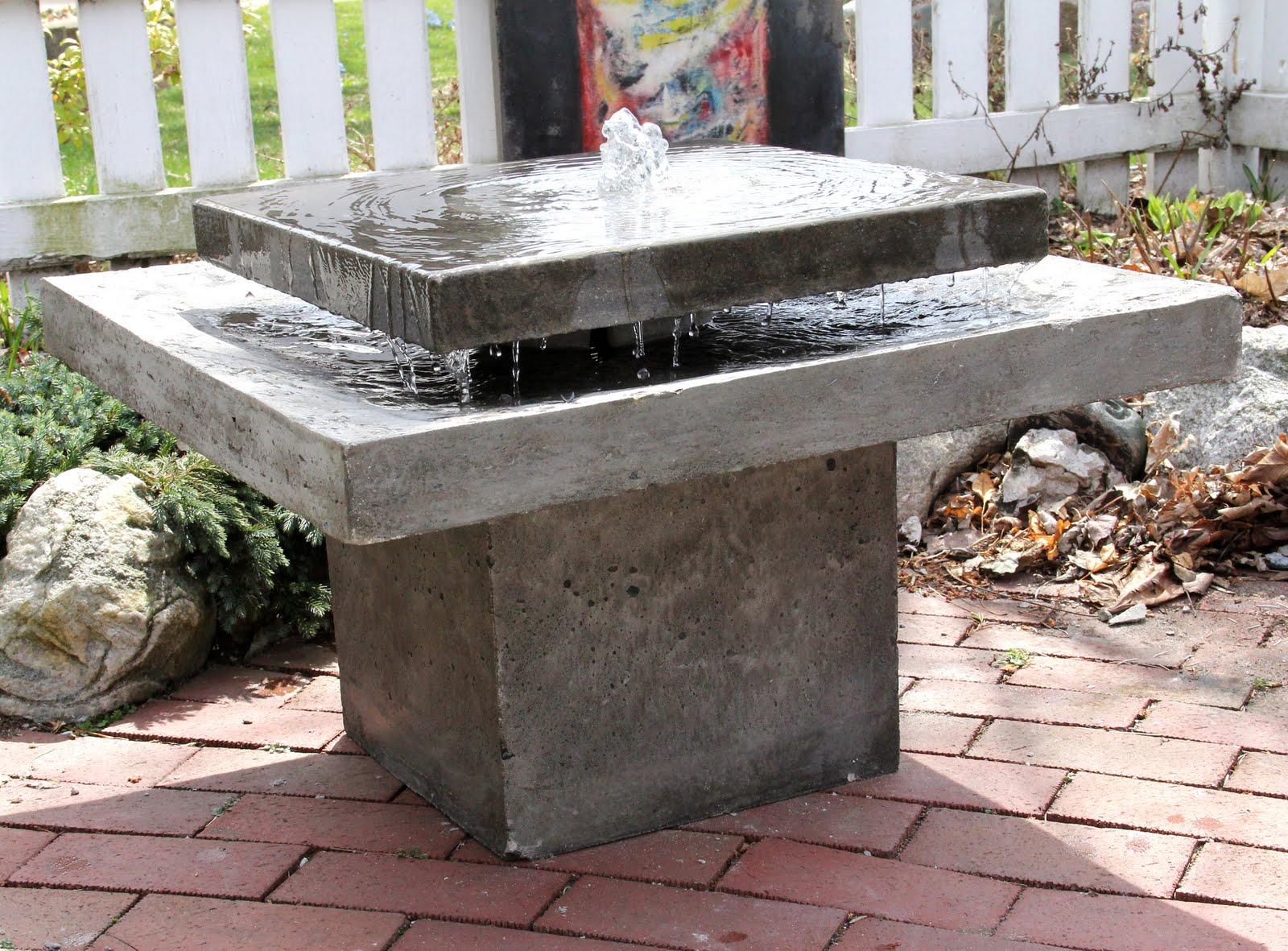 art studio: My new 2011 Concrete Water Fountain!