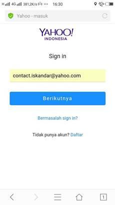 cara mengirim email yahoo lewat hp