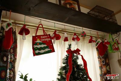 フェルトのクリスマスガーランド