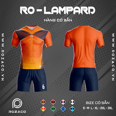 Áo Không Logo Rozaco RO-LAMPARD Màu Cam