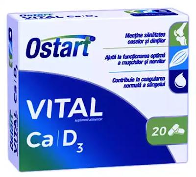 pareri Ostart Vital Ca + D3 prospect beneficii efecte adverse