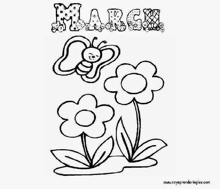 march flower coloring pages - photo#14