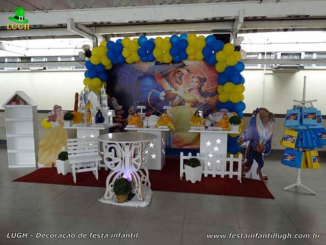 Decoração infantil A Bela e a Fera provençal simples - festa Barra - Rio de Janeiro (RJ)