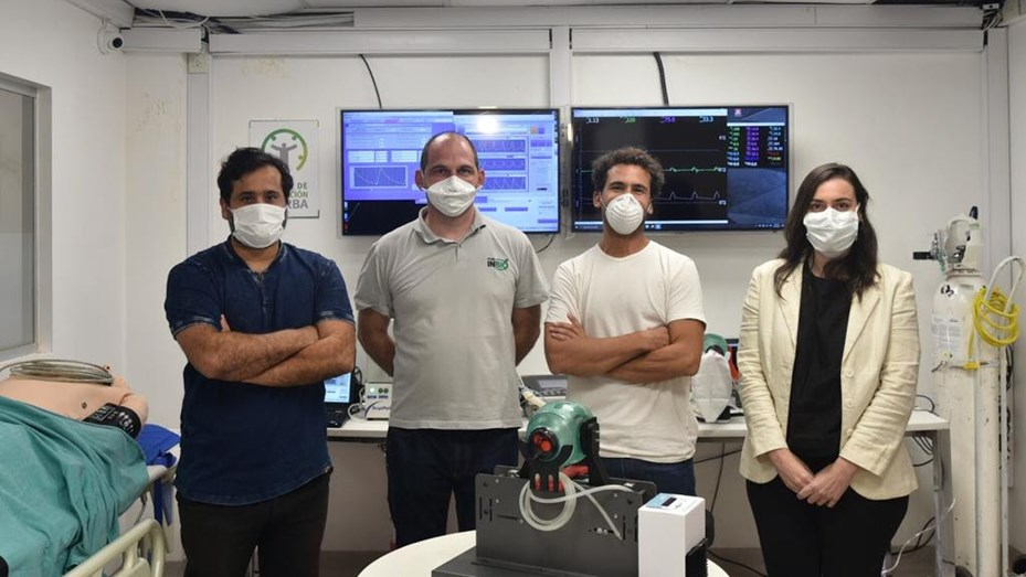 Respirador mecánico hecho en Rafaela