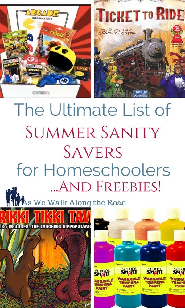 Summer activities for homeschoolers