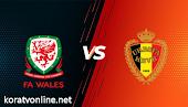 مشاهدة مباراة بلجيكا وويلز بث مباشر اليوم بتاريخ 24-03-2021 في تصفيات كأس العالم