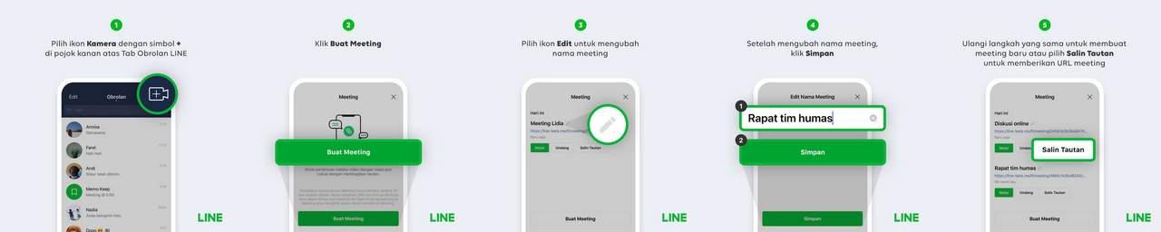 Cara Video Call di Line 500 Orang (line.me)