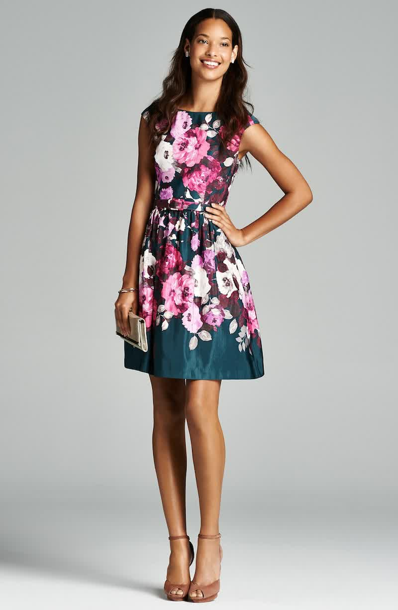 4 floral print bridesmaid dress summer bridal wedding for Floral print dresses for weddings