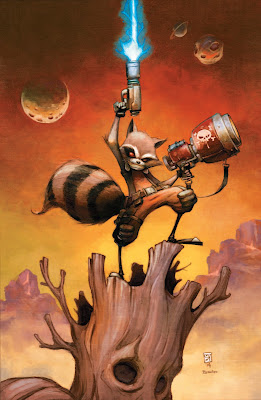 Rocket Raccoon Issue #1 Cover Artwork by Skottie Young