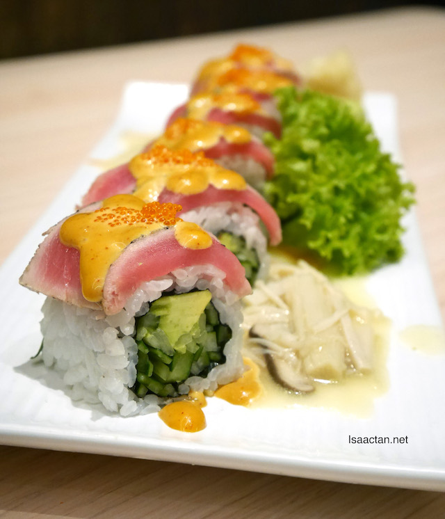 Grilled Tuna Sushi Roll with Spicy Tom Yam Sauce - RM28.90