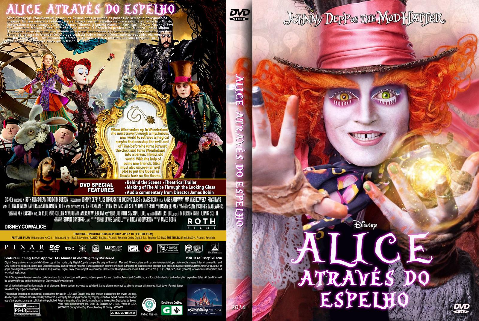Alice Através do Espelho DVD-R
