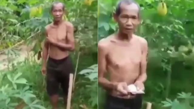 Viral! Curi Singkong karena Kelaparan, Kakek Ini Malah Diberi Uang oleh Pemilik Kebun