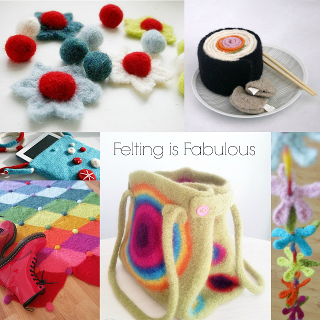 Felting is Fabulous (Felted Crochet Patterns by Susan Carlson of Felted Button)