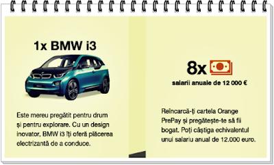castigatori concurs orange prepay masina electrica bmw i3