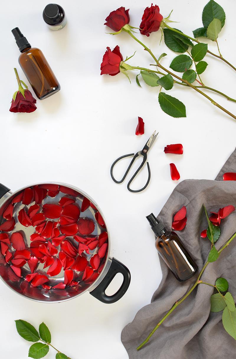 DIY rosewater face toner