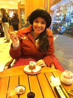 Sobremesa deliciosa na chocolateria Mamuschka em Bariloche