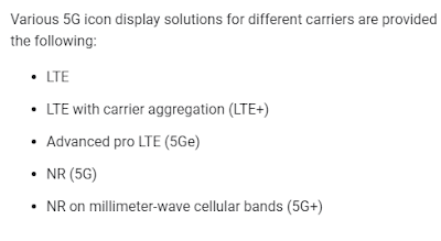 differenze 5G 5G+ 5Ge android