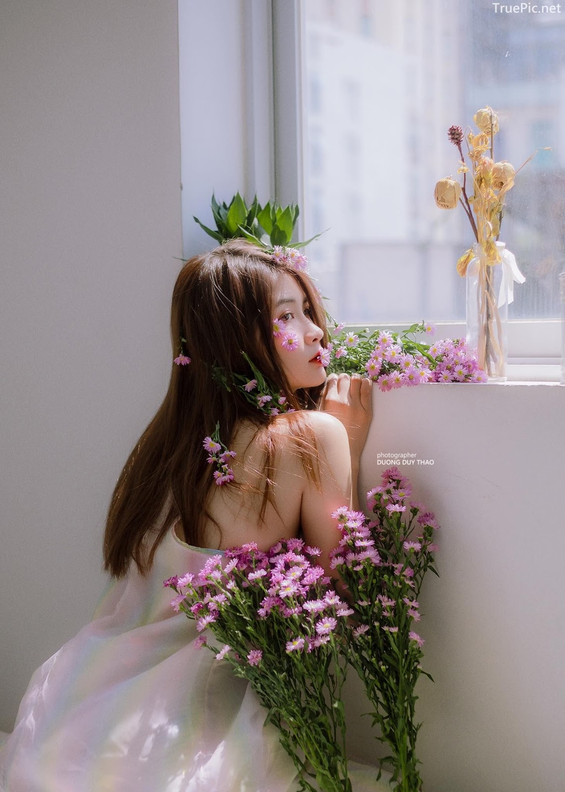 Vietnamese beautiful model Vu Thanh Huong - Fairies purple chrysanthemum - Picture 9
