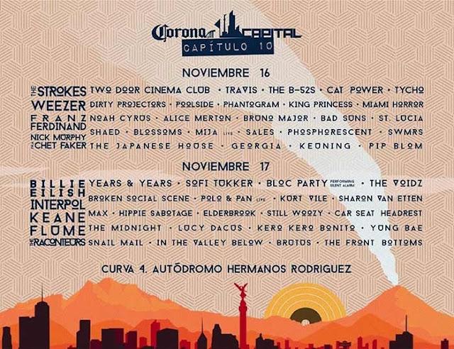 Corona Capital Mexico 2020 compra boletos en preventa priemra fila VIP no agotados