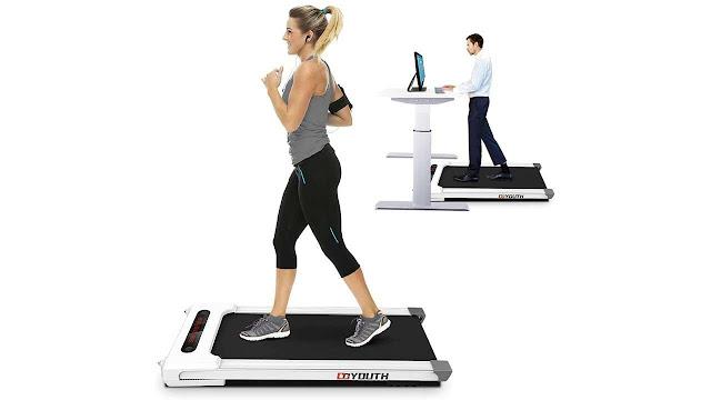 Goyouth 2 in 1 Under Desk Electric Treadmill