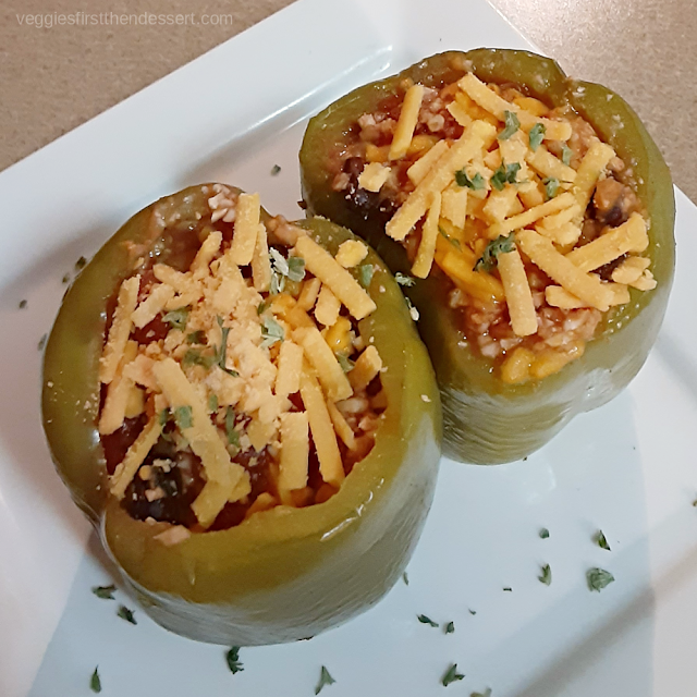 Veggies First Then Dessert: Vegan Crockpot Stuffed Peppers