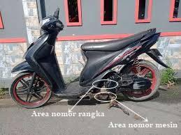 Letak Nomor Rangka dan Nomor Mesin Suzuki Spin