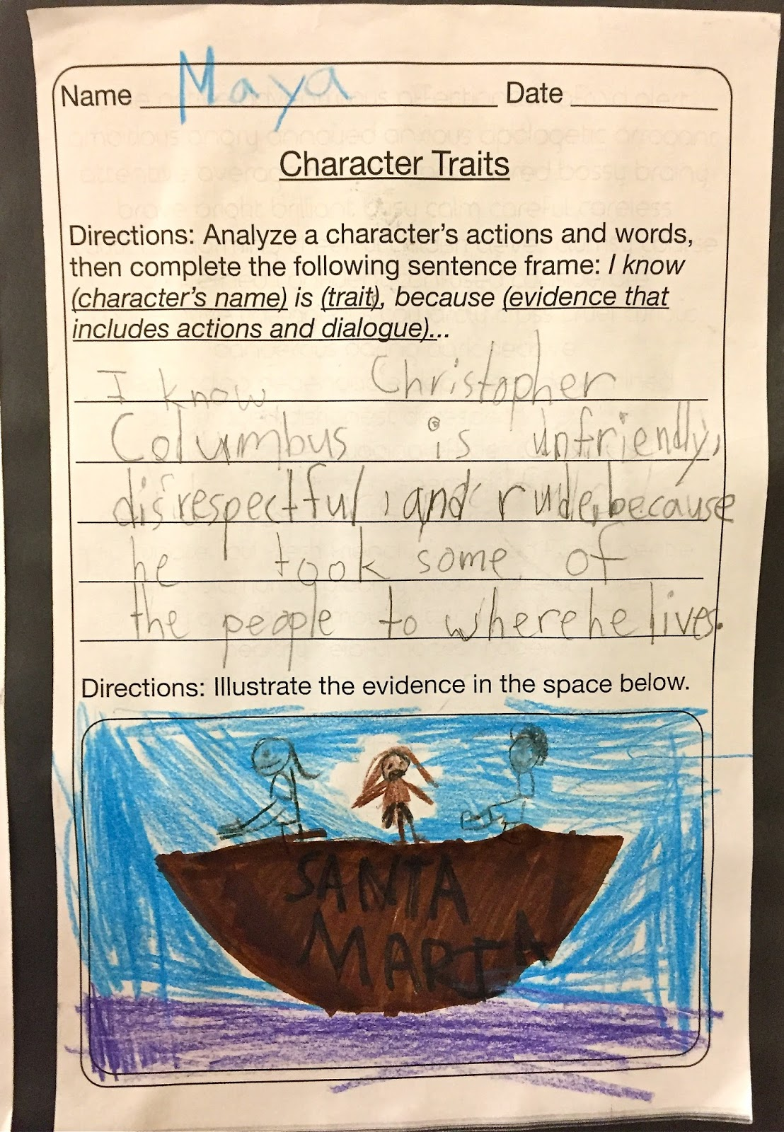 3rd Grade Who Was Christopher Columbus