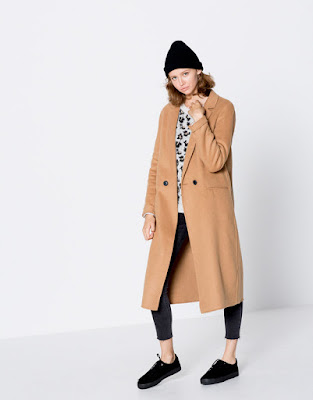 Manteau long style masculin deux boutons - Pull&bear