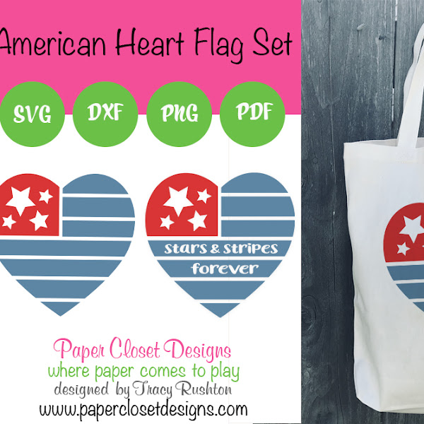 July's free file American Heart Flag Set